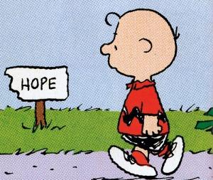 Speriamo bene. Siamo al 5% (Immagine: peanutsblog.tumblr.com)